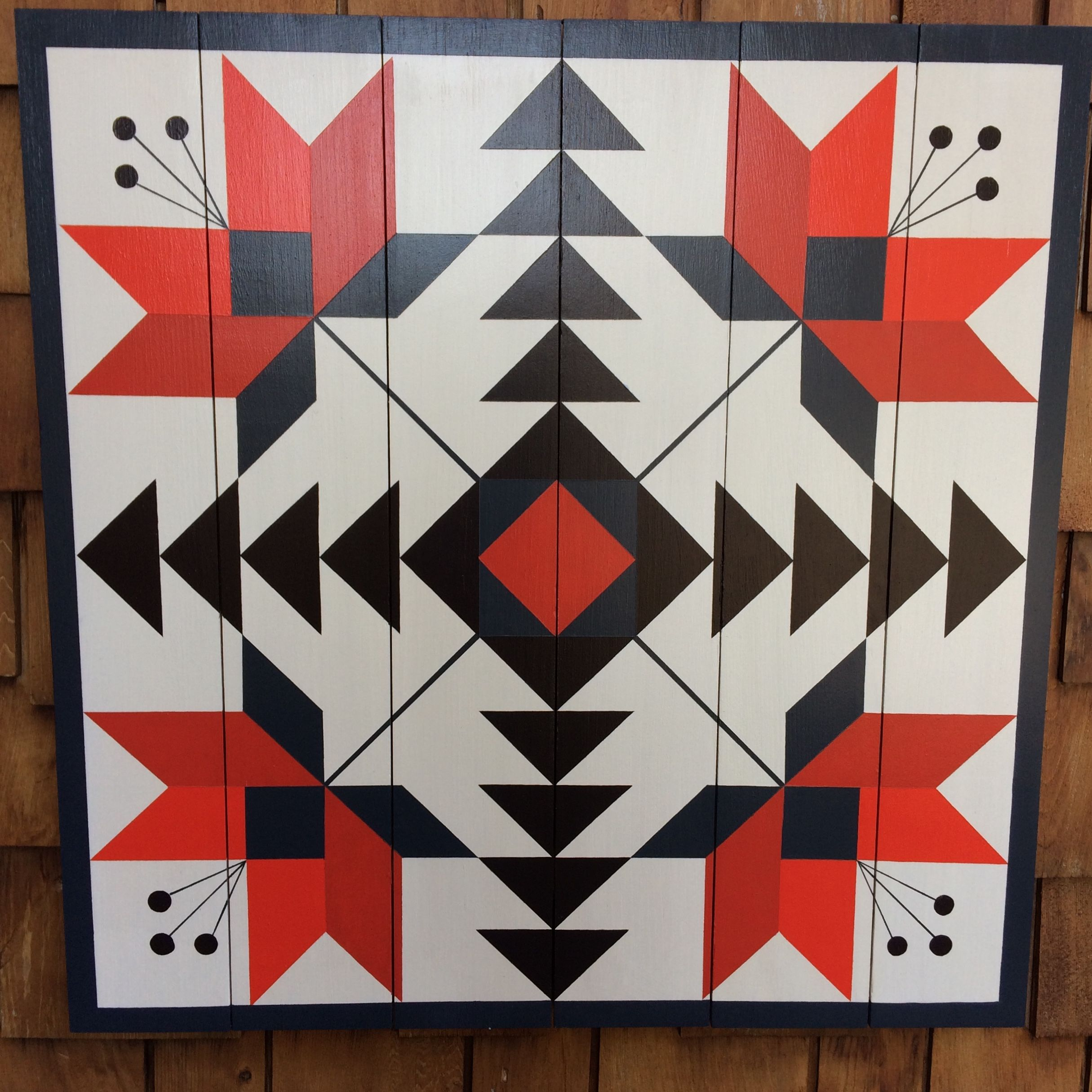 Scarlet Lily Barn Quilt