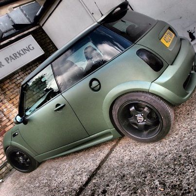 Military Paint Job Matte Military Green By Creative Fx Www Wrapyourcurves Co Uk Flat Car Paint Jobs Military Paint Mini Trucks