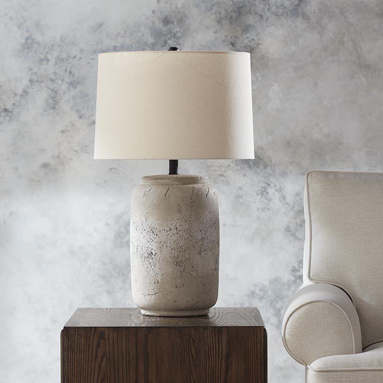 Devereux Table Lamp Concrete Table Lamp Table Lamp Table Lamps Living Room Living room table lamps grey