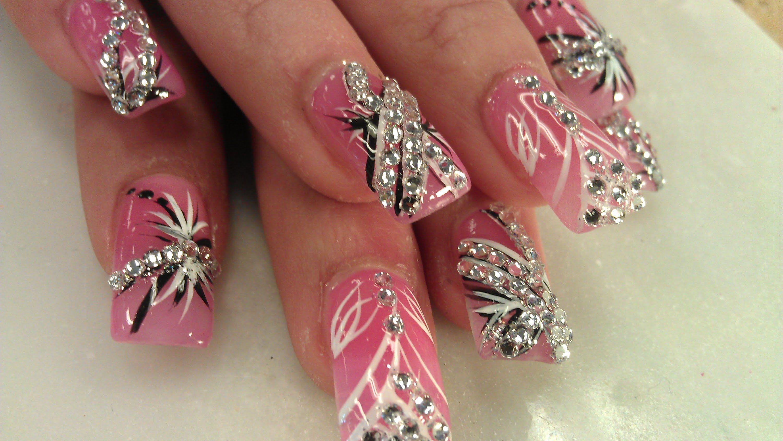 BEAUTIFUL PRETTY DIAMOND NAIL DESIGNS | Nails Artististic Design or ...