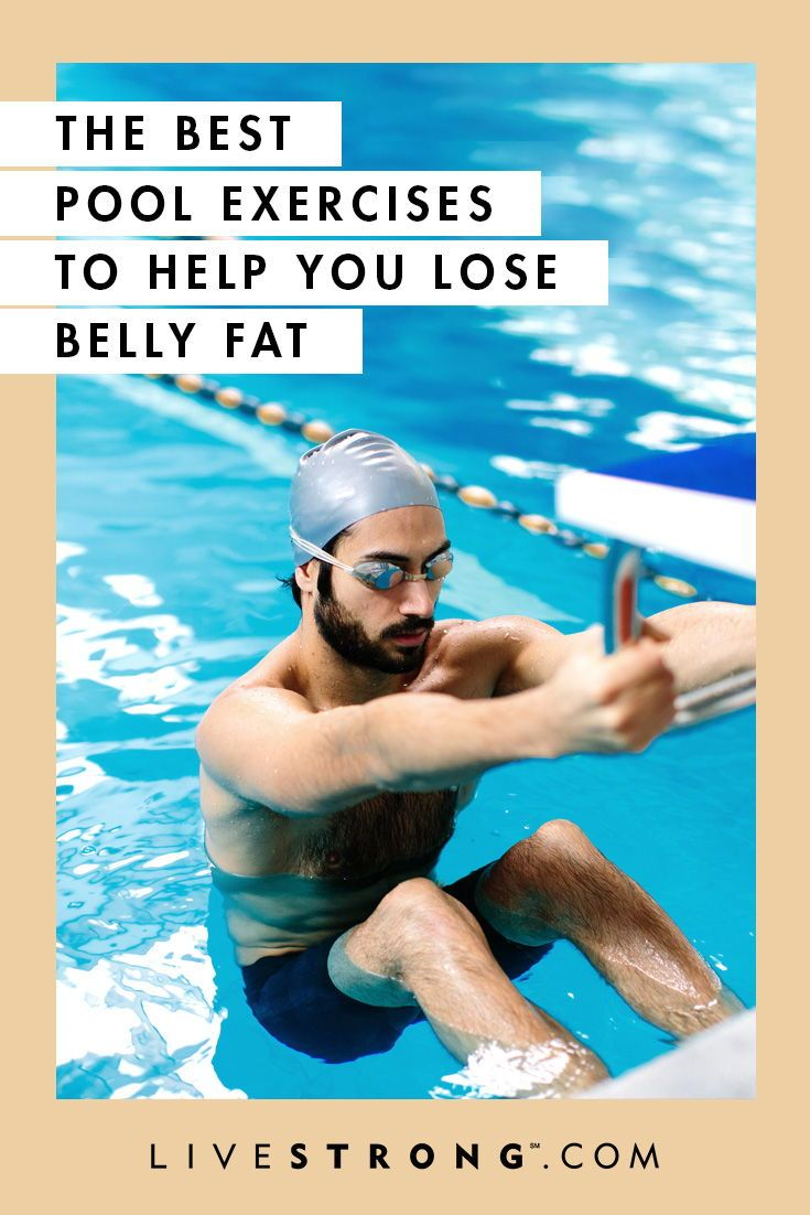 Swimming won't magically rid you of all belly fat overnight, but pool-based workouts can be an effective cardio workout that burns calories and body fat.
