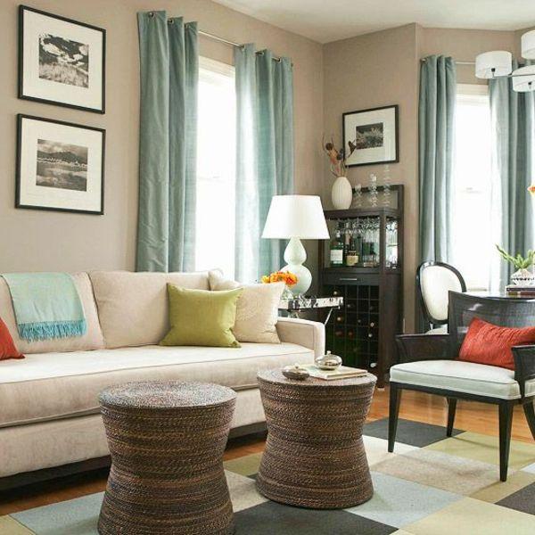 Farbbeispiele fürs Wohnzimmer - kräftige Farbgestaltung zu Hause ...