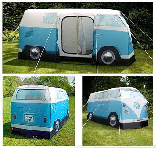 VW bus tent - too funny! //.perpetualkid.com & VW bus tent - too funny! http://www.perpetualkid.com/vw-camper-van ...