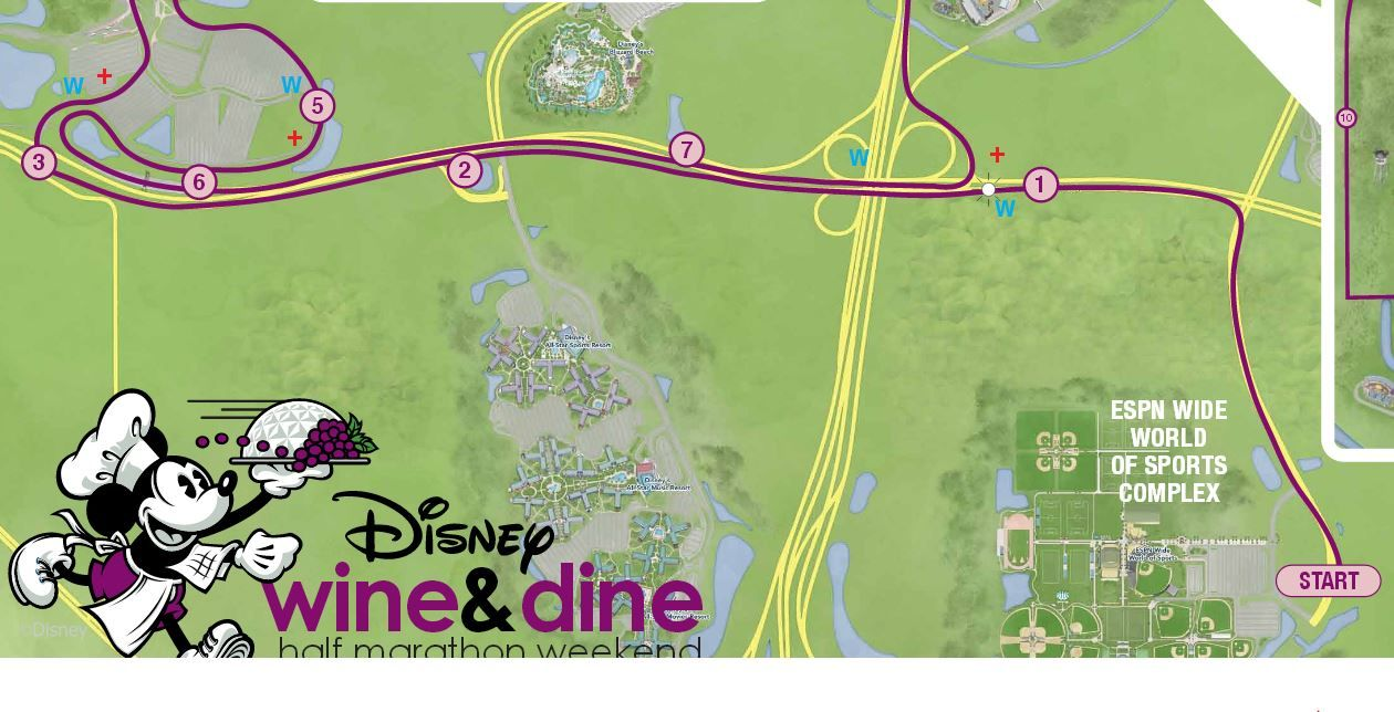 An indepth look at the course map for the 2013 RunDisney