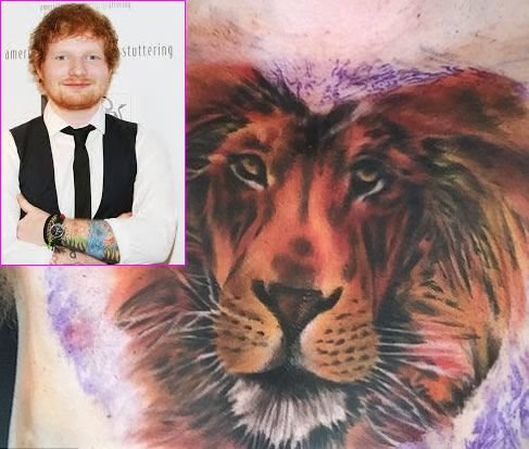 Ed Sheeran Says His Massive Lion Chest Tattoo Won T Be His Last