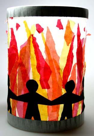 Feuerlaterne: Feuerlaterne von Sopie (8) - Collage - Kikunst, Kinderbilder im Kunstunterricht | Labbé Verlag