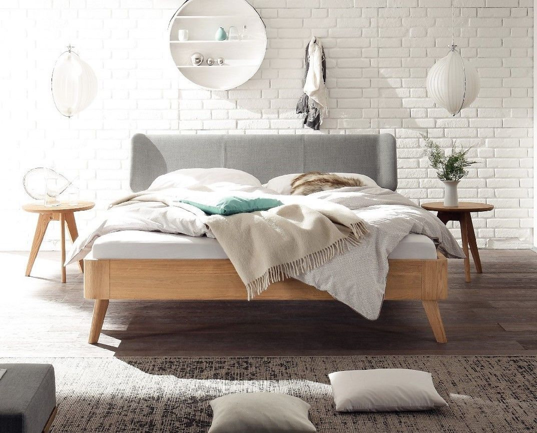 Bett Lindholm Hasena Masito Boga Solid Oak Real Leather Modern Bed In 2019