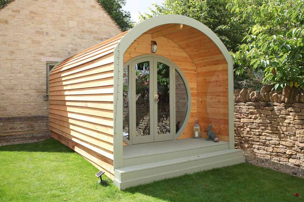 1000 off pod camping pod office shepherds hut for Garden office wales