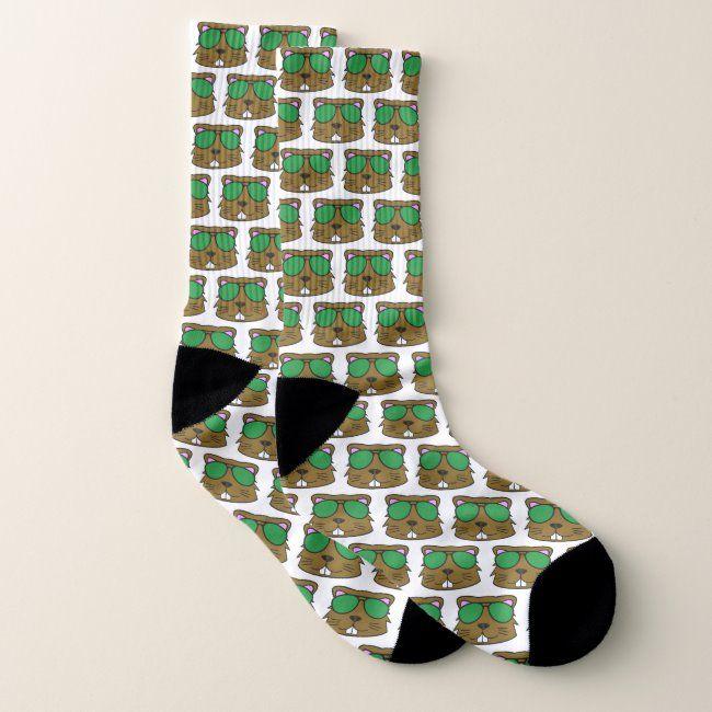 Beaver  Doodle Face Socks