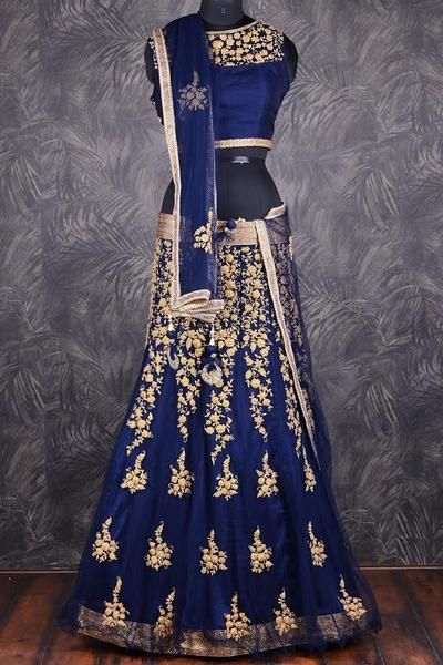 3337089eaaa Blue Net Indian Bollywood Lehenga Choli Online Shopping