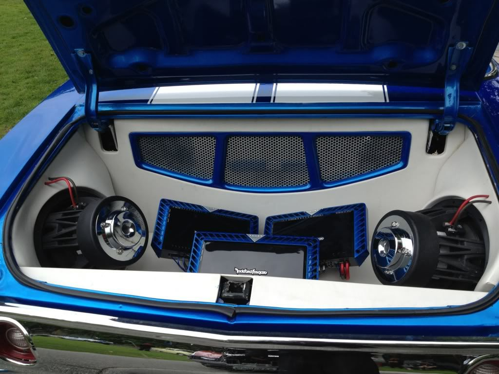 72 chevelle convertible blue white asanti af130 10 spoke wheels custom interior car audio for Interior car light laws california