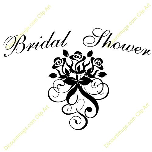 Bridal Shower Clip Art | name bridal shower rose swirls ...
