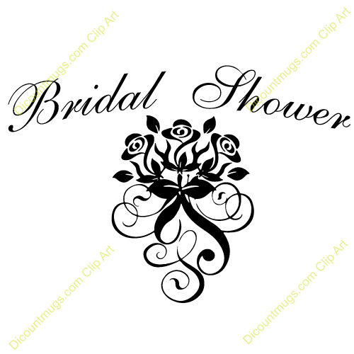 bridal shower clip art name bridal shower rose swirls description rh pinterest com bridal shower clip art free images bridal shower clip art backgrounds