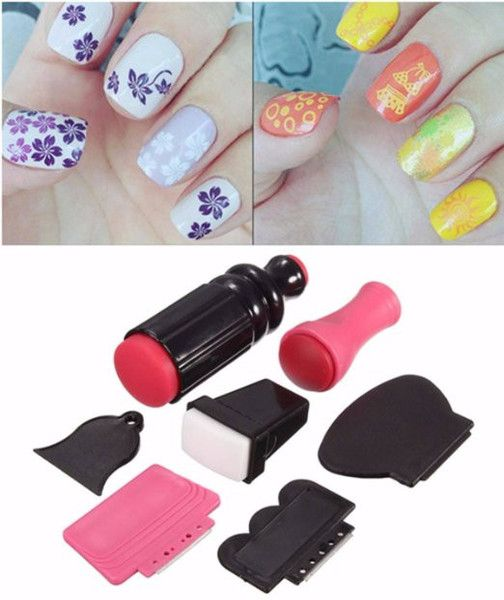 7pcs Nail Art Scraper Stamping Manicure Polish Double Ended Stamper
