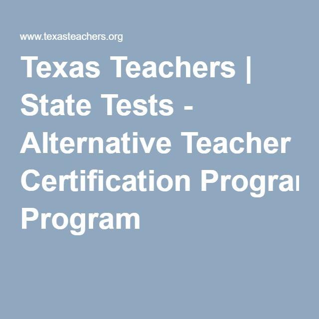 Texas Teachers | Study Materials | State Tests - Alternative Teacher ...