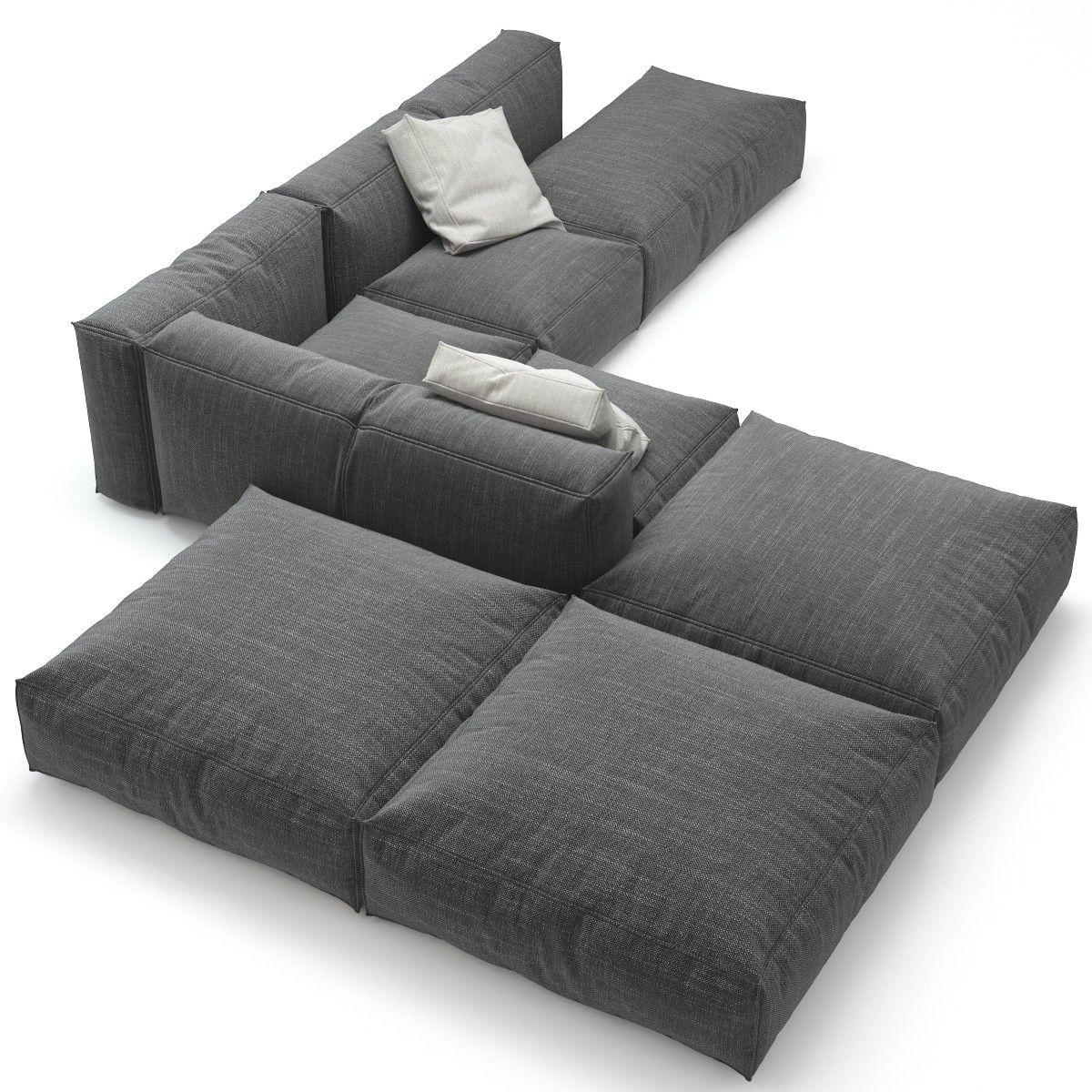 3d Peanut B Bonaldo Sofa Small Living Room Design Sofa Bed For Small Spaces Convertible Sofa