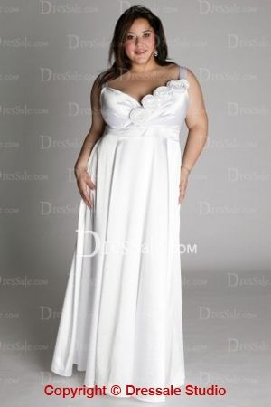 Plus Size Column Wedding Dresses with Spaghetti Straps