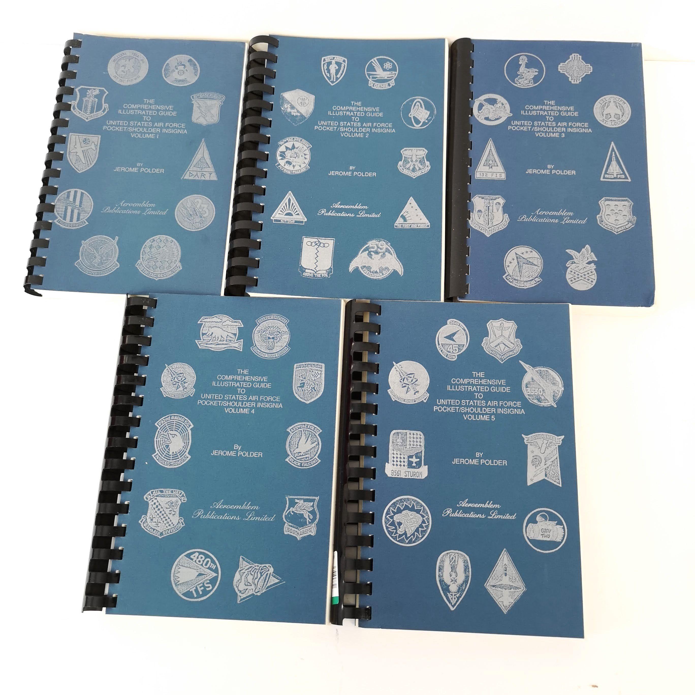 Us Airforce Pocket Shoulder Comprehensive Illustrated Guide Lot 5 Jerome Polder Volumes 1 2 3 4 5 Vintage Usairforce Guideus Pocke Polder Jerome Air Force