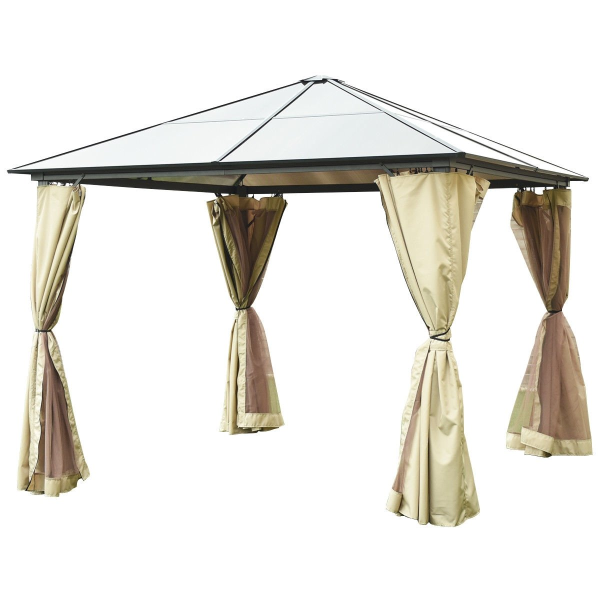 10 X 10 Gazebo Canopy Shelter Patio Party Tent Gazebo Canopy Canopy Shelter Canopy Tent