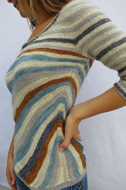 Crazy Stripes Tee Pattern By Alfa Knits Striped Tee Ravelry And