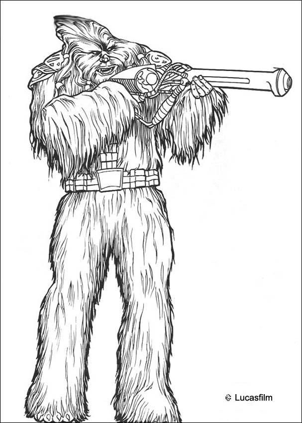 Coloriage De Star Wars Du Guerrier Wookie Un Coloriage Inedit