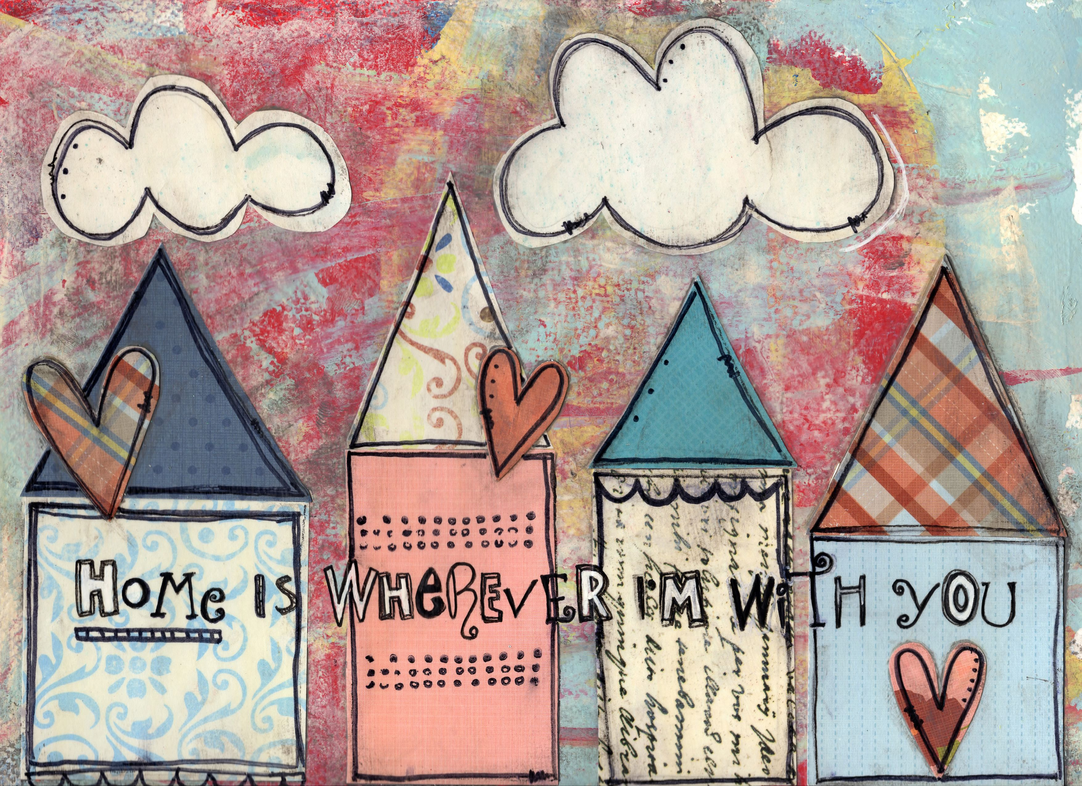 Mixed media art ideas valentines day mixed media art saved by love creations