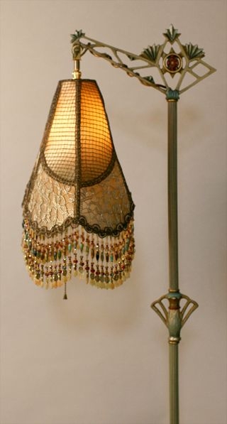 Lampshade On Antique Lamp Base