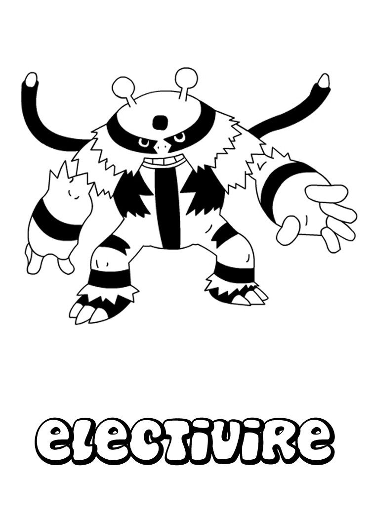 Electivire Coloring Page Pokemon Coloring Pages Pokemon Coloring
