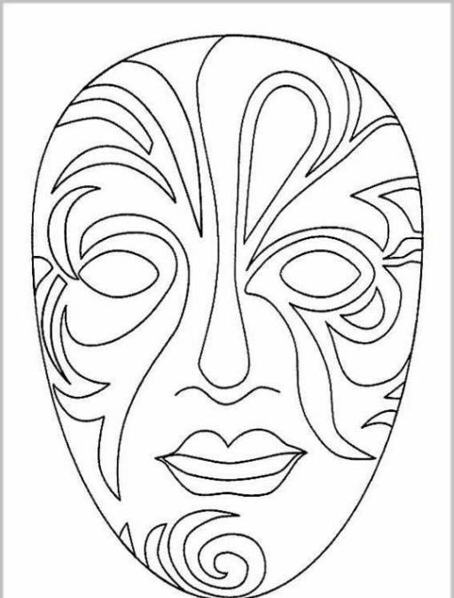 masken ausmalbilder – Ausmalbilder für kinder | color bok ...