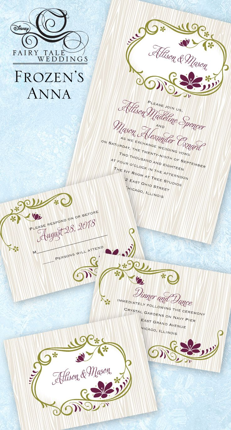 Wedding invitations inspired by Disney\'s Frozen that your heart will ...