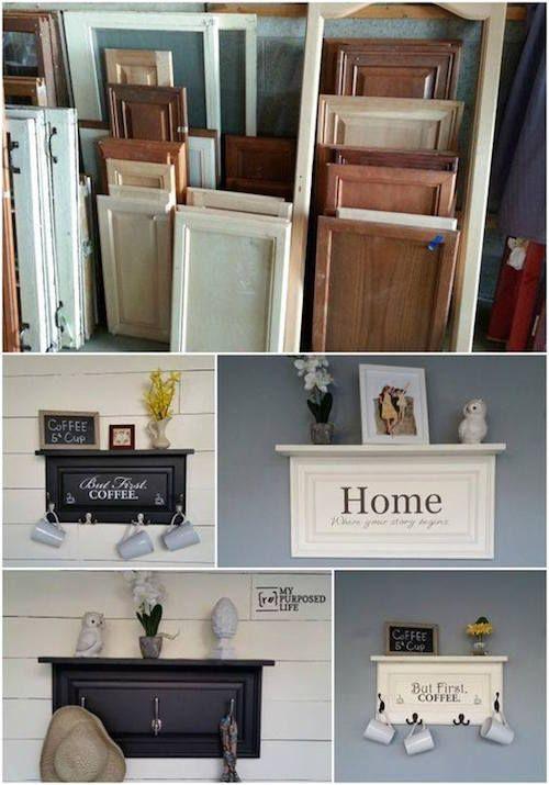 19 Incredible DIYs for Old Furniture 19 Cabinet Door Words - Diy