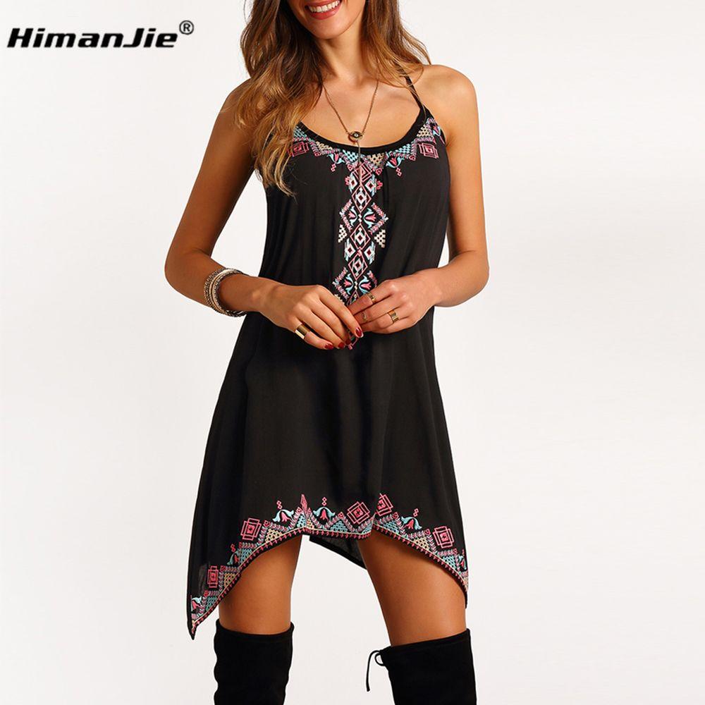 892febb69e7 women harness dress summer print Sleeveless Beach o-neck for girl party club  sexy casual
