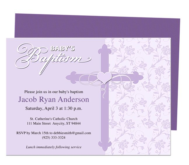 Mandarin Printable DIY Baby Baptism Invitations Templates editable – Microsoft Word Invitation Template