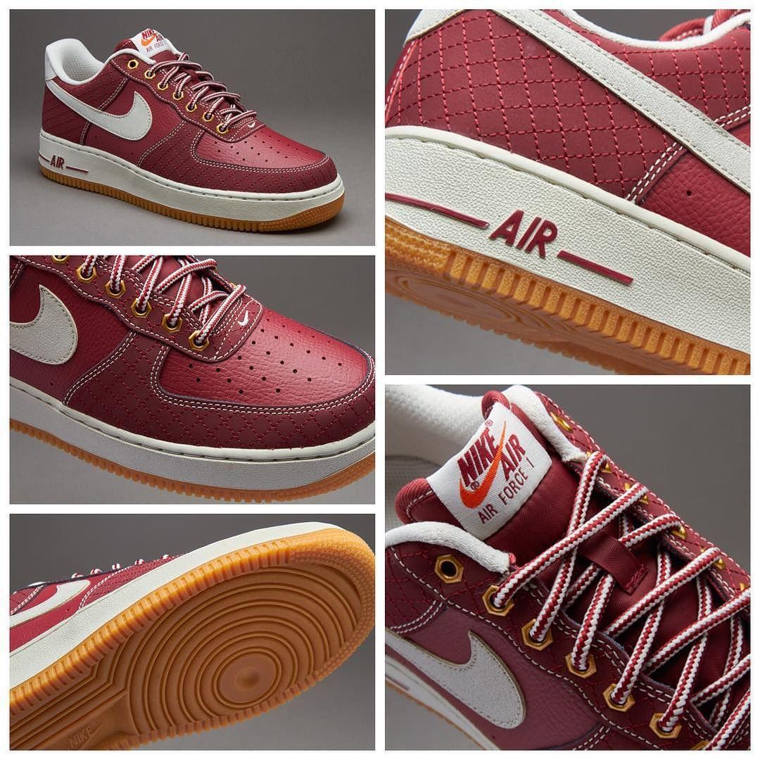 Nike Sportswear Mens Air Force 1 Team Red / Light Brown