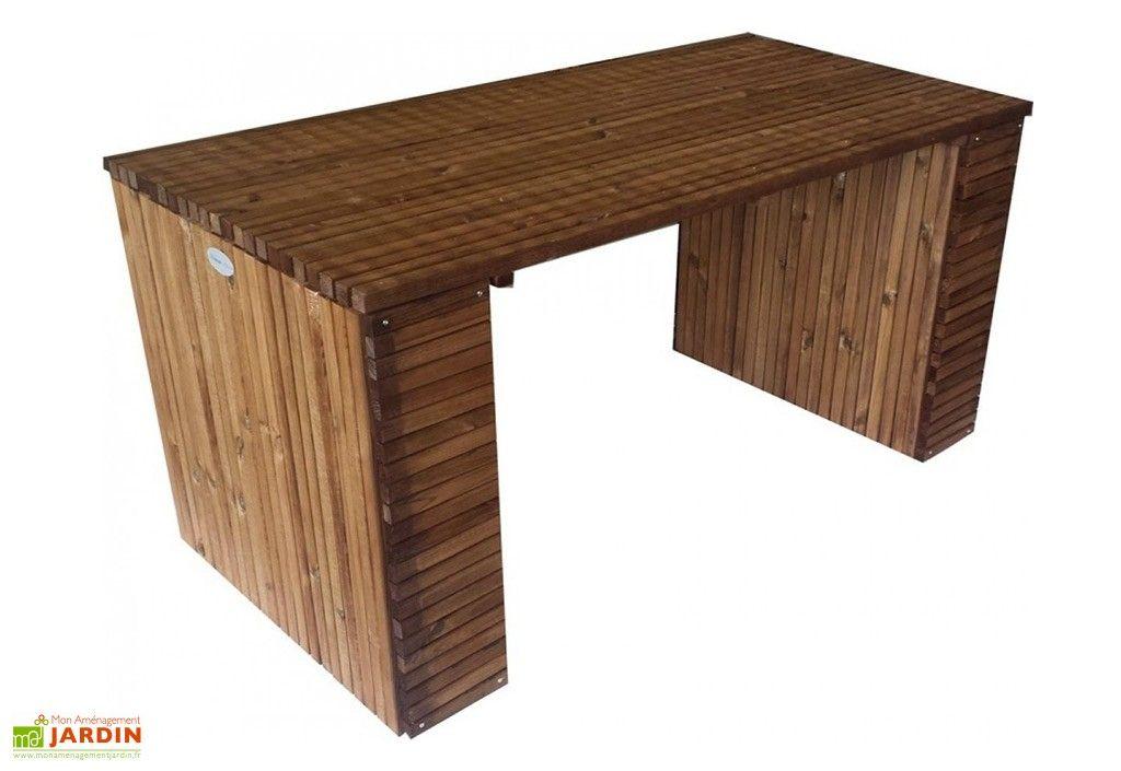 Table de Jardin en Bois Autoclave 200 cm 30 mm Barcelona ...