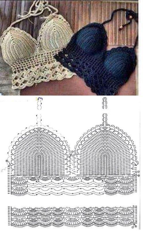 18 Tops Tejidos a Crochet con Patrones | Para coser | Pinterest ...