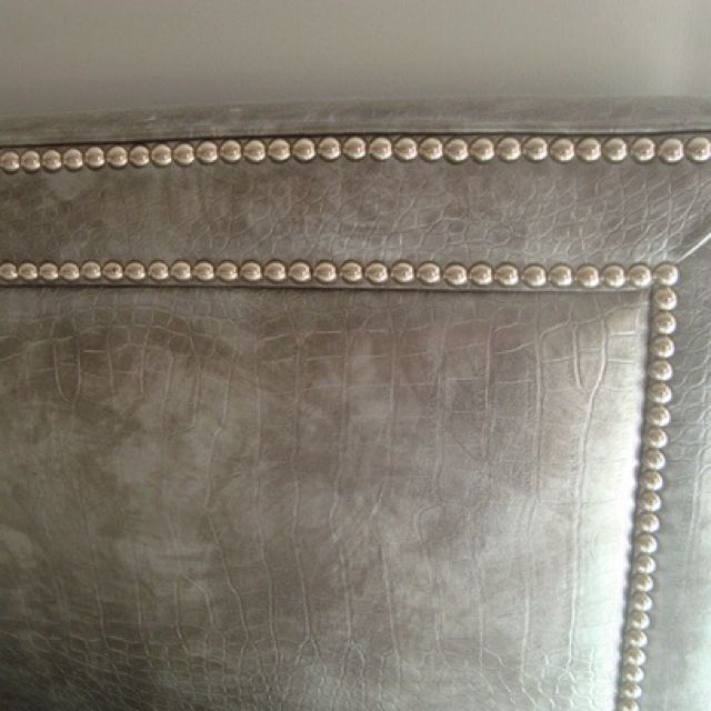 check out b7729 5ab7b Mitchell Gold studded headboard I bought on sale and gave ...