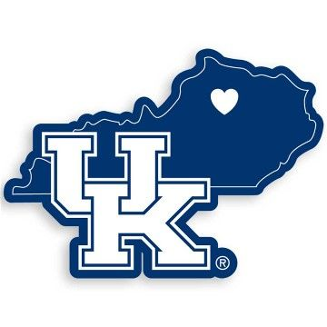 Decal kentucky wildcatsg 360360 uk pinterest kentucky this kentucky wildcats decal feature the team logo over a silhouette of the state in team colors and a heart markin sciox Gallery