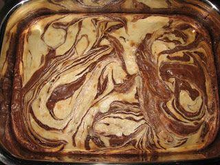 Marble Brownies - Using brownie mix