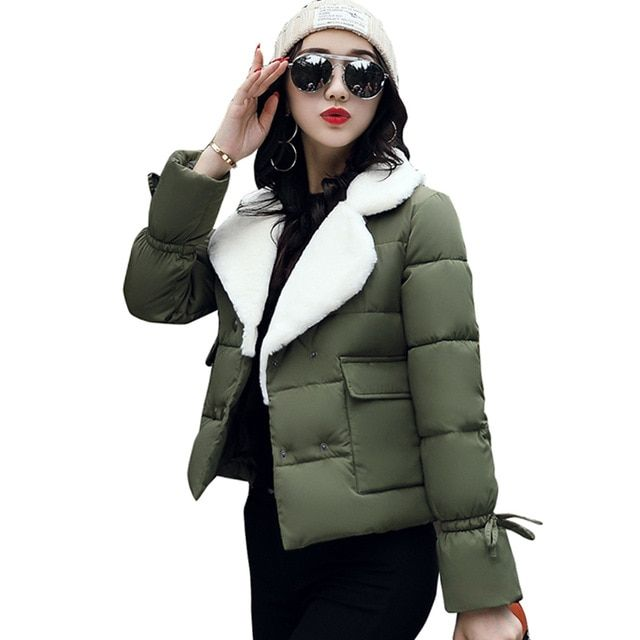 Women's Clothing Ladies Winter Parkas Korean Coats Long Down Cotton Jacket Womens Clothing 2018 Thicken Warm Outerwear Overcoat Tops M L Xl New Parkas
