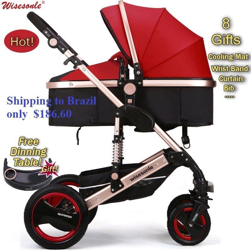 Luxury Baby Stroller 2 in 1 HighLandscape Pram Portable