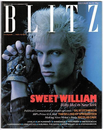 Blitz Magazine No.33, July/Aug 1985 ft. Billy Idol