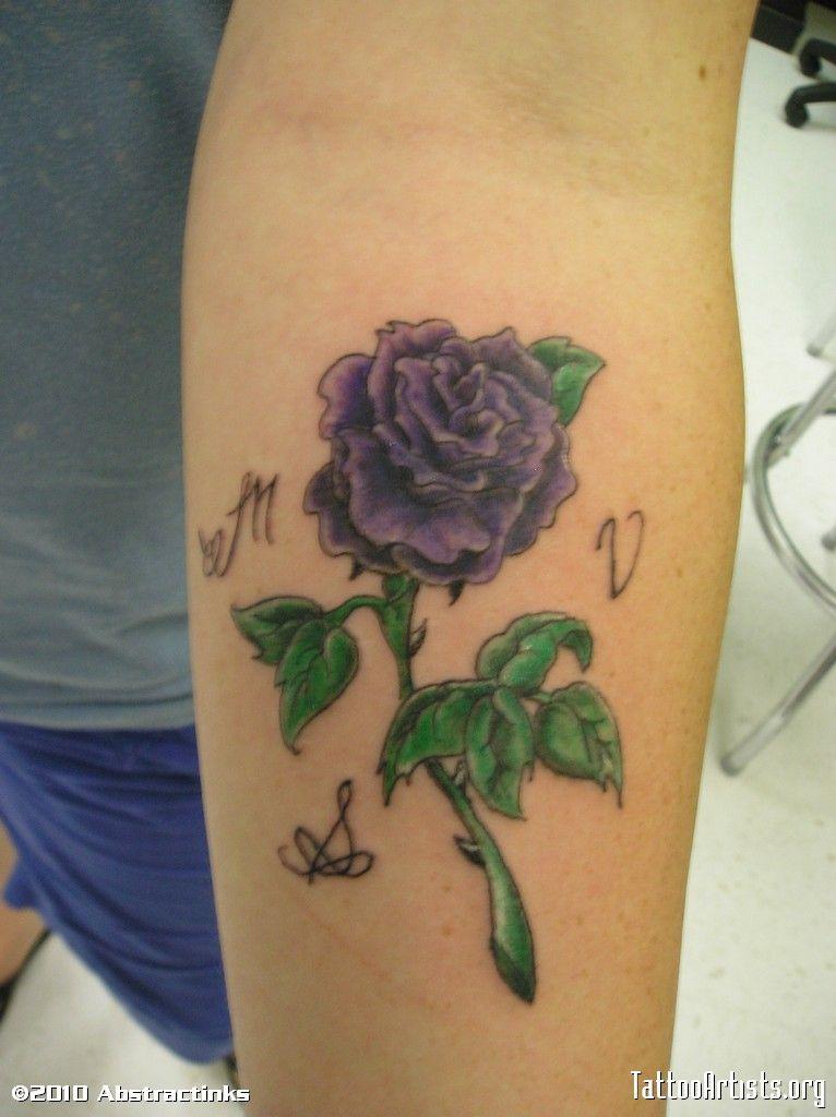 Realistic Purple Rose Tattoo Tattoos Rose Tattoo