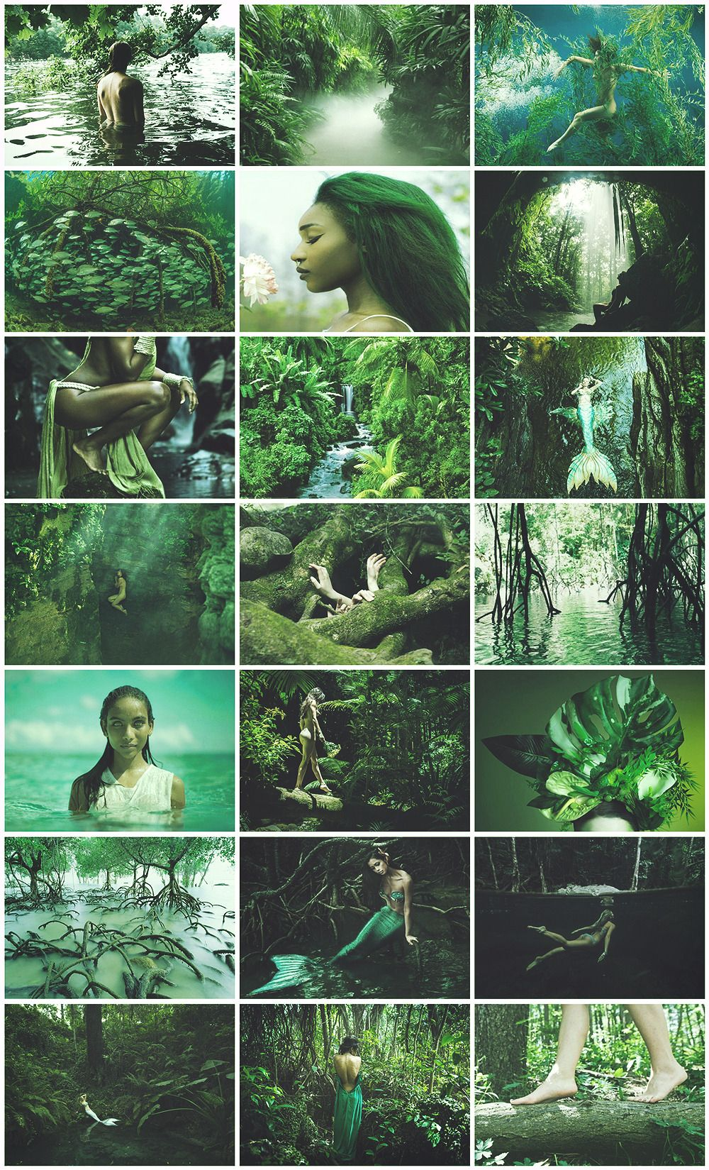 Rainforest Mermaid aesthetic for @kissesfromlife | Witchy Woman in