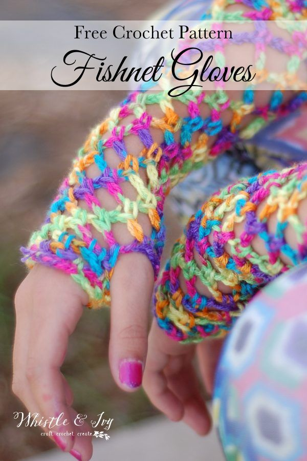 Crochet Fishnet Gloves Free Crochet Pattern Crafts Crochetknit