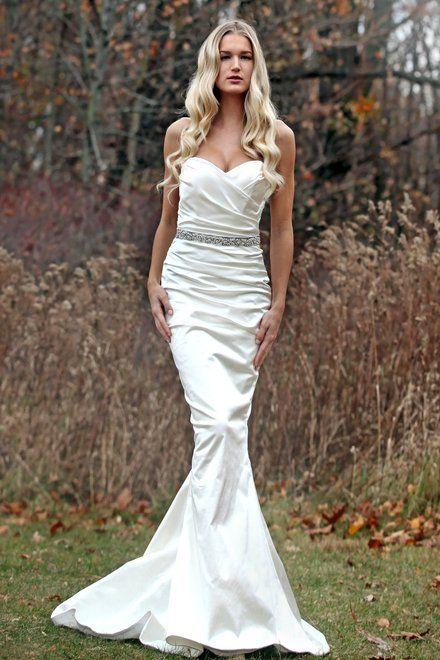 Marisa Bridals Style: D78 Luxury in silk. Our stretch silk satin ...