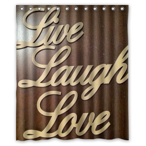 Nice Inspirational Quote Live Laugh Love Shower Curtain Excellent