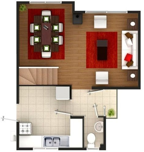 planos de casa de dos pisos 80 metros cuadrados