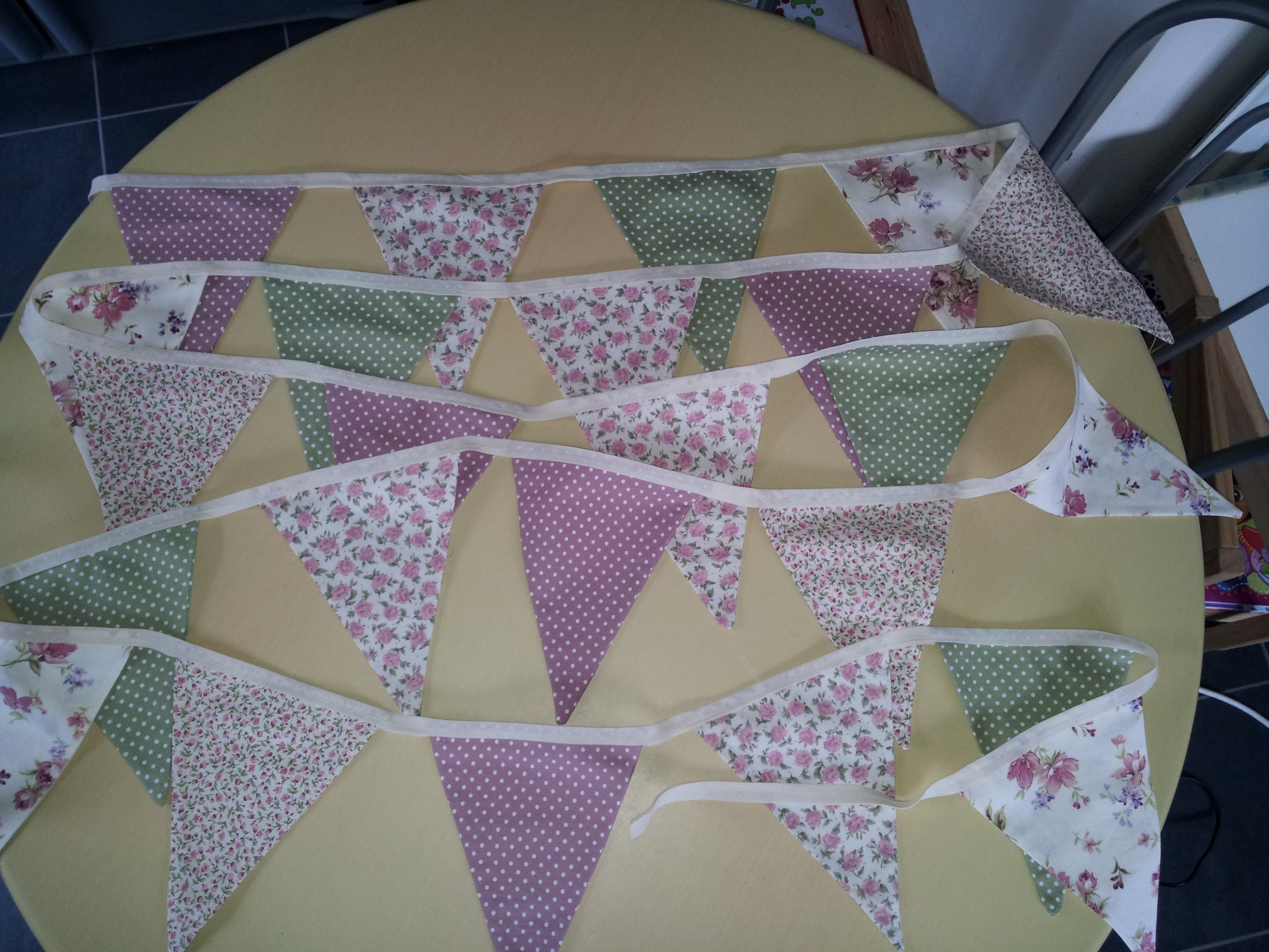 bunting attempt no 2 for friends shabby chic kitchen home