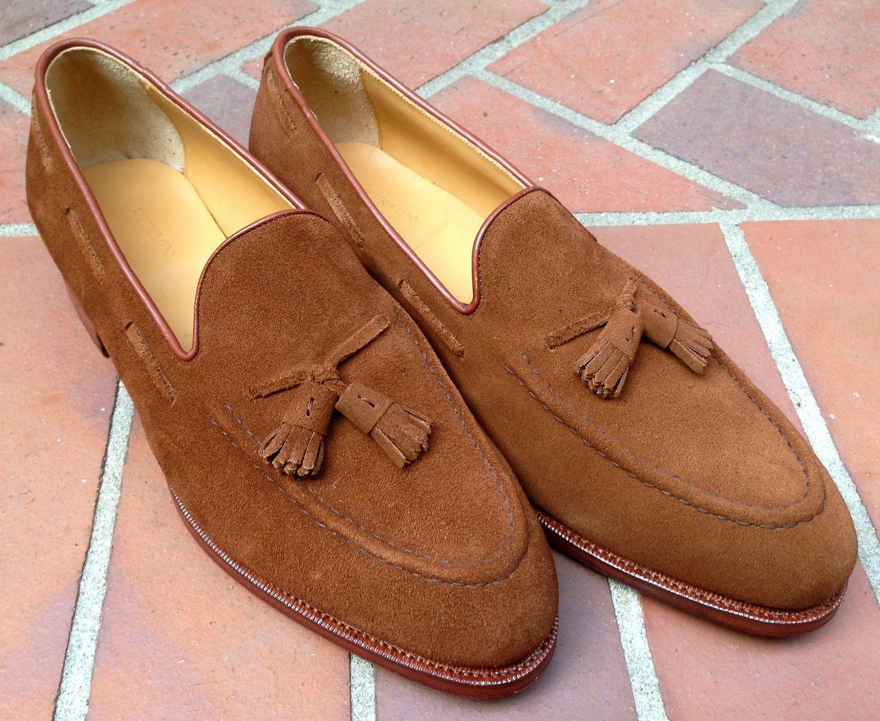1937d12924c 101412 Tassel loafer in snuff suede
